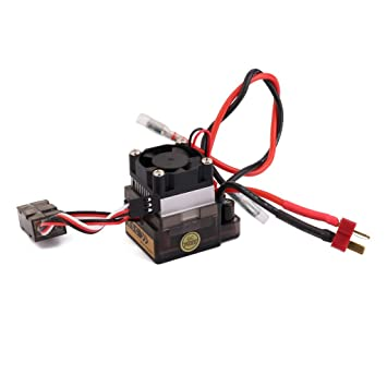 Regulador De Velocidad 320a 7.2v-16v Esc Alta Tensión Cepillado Para Rc Barco Del