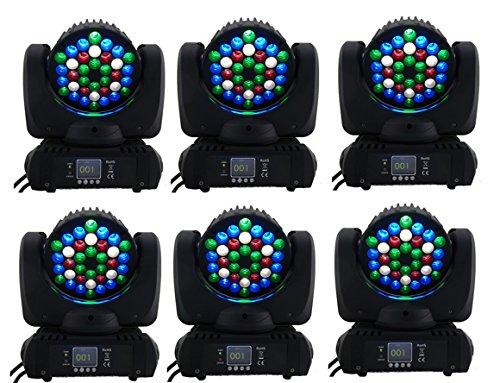 Eshine 6pcs/lot LED Beam 36x3w Moving Head Light RGBW With DMX stage Lighting For Wedding Christmas Birthday DJ Disco KTV Bar Event Party Show