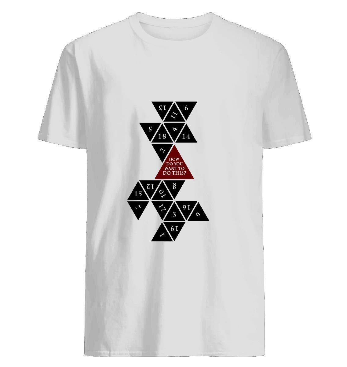 Flattened D20 Dungeons And Dragons Critical Role Fan Design Shirts