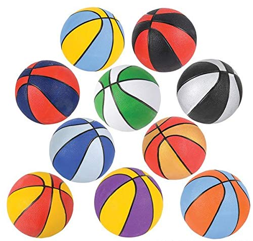 Rhode Island Novelty Assorted 7'' Mini Basketballs | Set of 6 | Colors May Vary