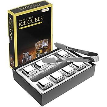 Amazon.com: Piedras de whisky cubitos de hielo de acero ...