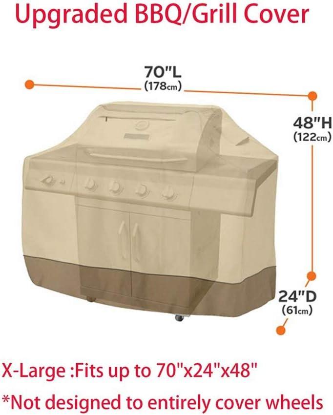 58x24x48 inch DIYARTS Copertura per Griglia per Barbecue Rivestimento in PVC Copertura Impermeabile Resistente per Barbecue Copertura Protettiva per Esterno Pieghevole con Tasca