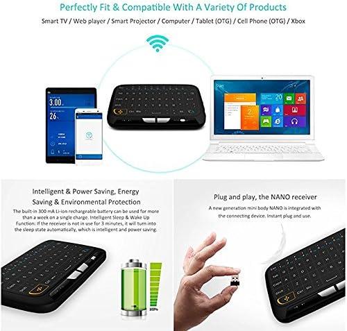Surenhap Teclado Raspberry Pi, Teclado H18 con Touchpad Mouse / 2.4Ghz Inalámbrico/Adecuado para Android TV Box, Smart TV, HTPC, IPTV, Ordenador portátil, Raspberry PI PS3: Amazon.es: Hogar
