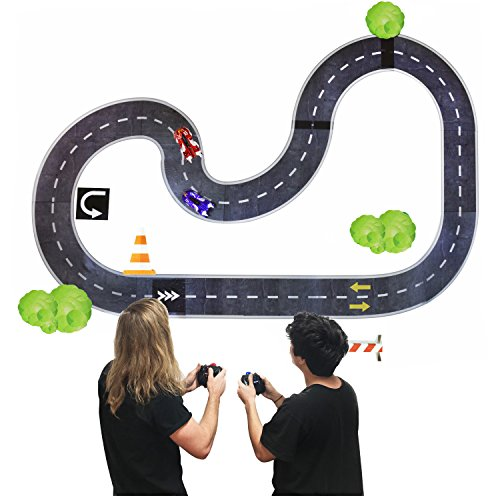 Legacy Toys Remote Control Wall Race Cars and Wall Race Car Track Multiplayer Set for Boys - Pack of 2 Wall Cars and RaceTrack