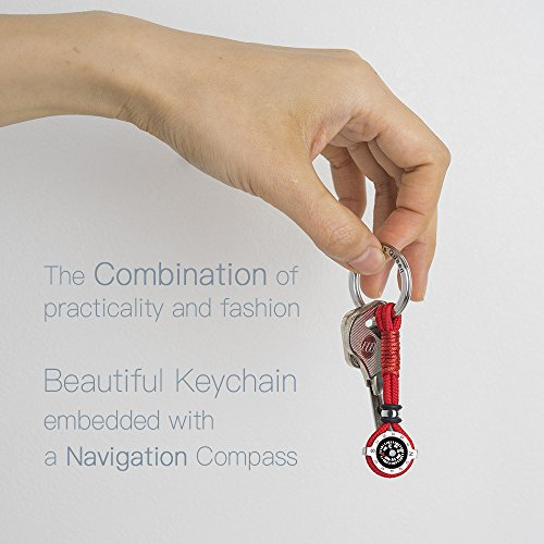 Novelty Compass Keychain for Outdoor Enthusiast, Stylish & Practical, Quality Compass for Hiking, Camping, Luxurious Packaging, Outdoor Gift for outdoorsman, Gift for Hikers, Campers, for Backpackers by DAYHAO (Image #3)