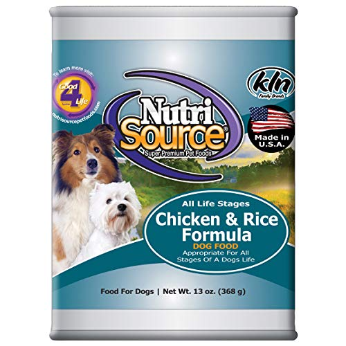Tuffy'S Pet Food 131300 Tuffy Nutrisource 12-Pack Chicken And Rice Canned Food For Dogs, 13-Ounce