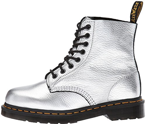 #Dr Martens Pascal Silver 8 Eye Leather Womens Boots