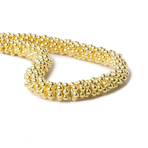 Vermeil Daisy Spacers Beads (3mm Vermeil Daisy Spacer Beads 78 beads 4 inch)