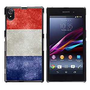 Graphic4You Vintage French Flag of France Design Hard Case Cover for Sony Xperia Z1