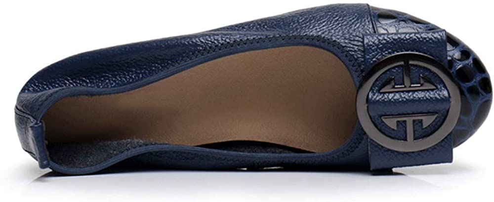 LIURUIJIA Womens Genuine Leather Loafers Casual Moccasin Driving Shoes PDX3-1770-02