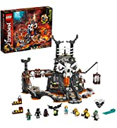 LEGO NINJAGO Skull Sorcerer's Dungeons 71722 Dungeon Playset Building Toy for Kids Featuring Buil...