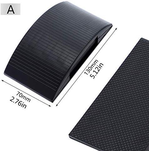 Support de papier de verre Pad de poche Disque Outils abrasifs portables Polissage Antid/érapant Bloc de pon/çage Bloc dextraction de poussi/ère /Éponge Travail du bois Noir