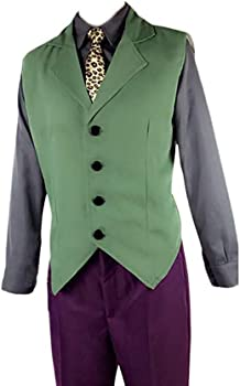 LumeMery Traje de Joker Payaso Traje púrpura Abrigo Camisa Chaleco ...