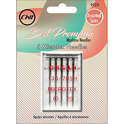 CLOVER Best Premium Machine Needles Microtex Assortment, 5 Piece