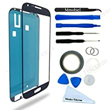 SAMSUNG GALAXY S4 MINI i9190 i9195 BLACK DISPLAY TOUCHSCREEN REPLACEMENT KIT 12 PIECES INCLUDING 1 REPLACEMENT FRONT GLASS FOR SAMSUNG GALAXY S4 MINI / 1 PAIR OF TWEEZERS / 1 ROLL OF 2MM ADHESIVE TAPE / 1 TOOL KIT / 1 MICROFIBER CLEANING CLOTH / WIRE