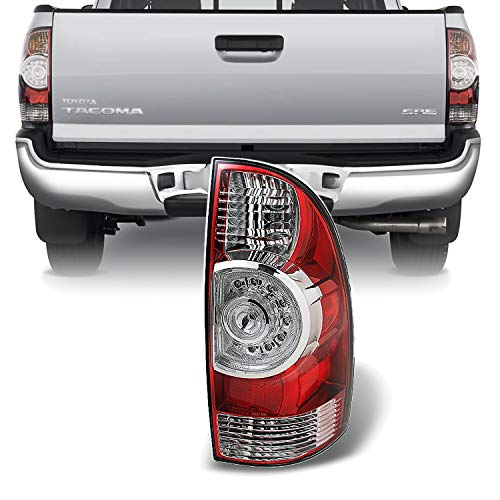 Toyota Tacoma Rear Lamp - For 05-15 Toyota Tacoma Pickup Truck Red Clear Rear Tail Lights Brake Lamps Passenger Right Side Replacement