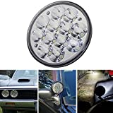 H5001 LED Flood Par46 LED Lights, Round LED Headlights Fit for Unity Spotlight 5.75' 5-3/4' Truck Led Work Lights Replacement Sealed Beam Projector 36W Chrome Truck Offroad
