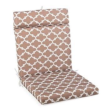 Amazon.com: Taupe - Cojín para silla de patio con bisagras ...