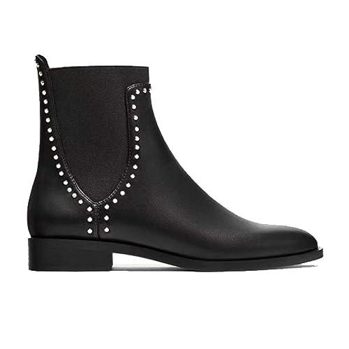 ZQZQ Botines Simples, Elegantes, Redondos, Antideslizantes: Amazon.es: Zapatos y complementos