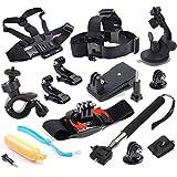 SportPRO Kit de accesorios 12-en-1 esenciales compatibles con GoPro SportPRO Eken y mas