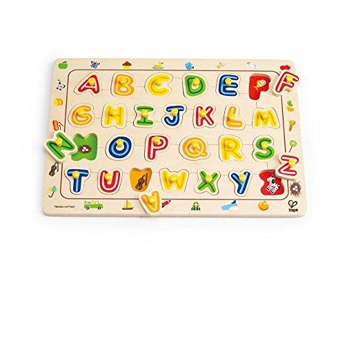 (Hape ABC Matching Toddler Wooden Peg Puzzle)