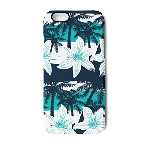 Delight Bouquet (YUEch IPhone Case Tropical Flowers Palms Leaves TPU Shock-Absorption & Skid-proof Anti-Scratch Phone Case For Apple IPhone 6/6S/6 Plus/6S Plus/7/7 Plus/8/8 Plus)