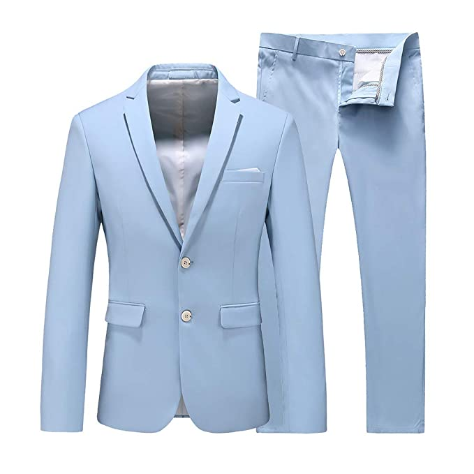 Men's Vintage Style Suits, Classic Suits UNINUKOO Mens 2 Piece Wedding Tuxedo Prom Dress Party Suit Slim Fit $59.99 AT vintagedancer.com