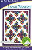 Lotus Blossom Quilt Pattern, Jelly Roll 2.5'' Strip Friendly, 4 Finished Size Options