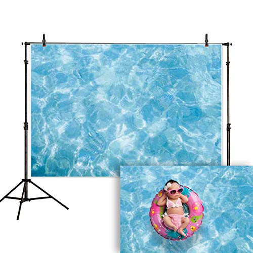 Allenjoy 7x5ft Summer Shining Blue Water Ripple Photography backdrops Swimming Pool Sea Ocean Marine Style Background Beach Theme Party Kids Baby Shower Newborn Photo Booth Studio Props