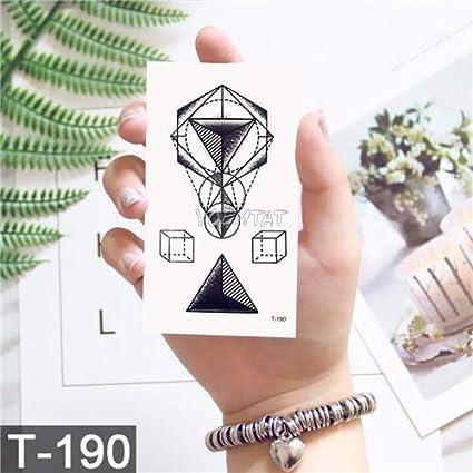 HXMAN 7 Unids Negro Geométrico Ballena Temporal Tatuaje Luna ...