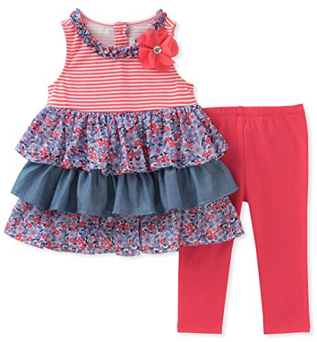 - Kids Headquarters Baby Girls 2 Pieces Tunic Set, Assorted, 18M