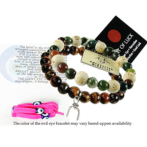 of 2 Karma Beads Bracelets Believed to Deliver Unexpected Miracles and Protection. Included 36