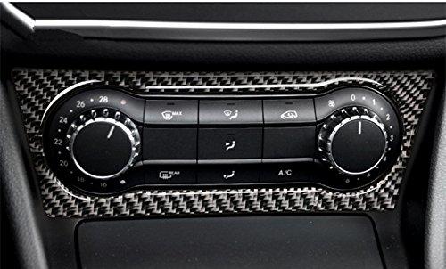 Carbon Fiber Center Console Air Condition Button Frame Trim Cover 1pcs