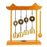 Olpchee Alloy Zen Art Gong Feng Shui Desktop Chime Bell for Office Home Decor (Windbell)
