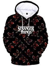 KamiraCoco Boys Sportswear Sweartshirt 3D Printed Stranger Things Hoodie Gifts for Mens and Women