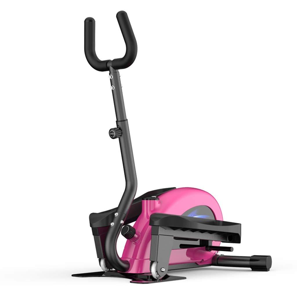 ステッパー 調節可能なステッパー家庭用減量機ミニジョギング楕円ランニングペダル機小さなフィットネス機器家族へのプレゼントに最適体重120kg (Color : Pink, Size : 28*58*115cm) 28*58*115cm Pink B07PFM5XGJ