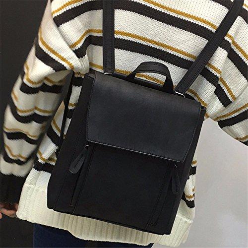 MSZYZ Féminine Black Dos Simple Mode Sac d'épaule Multifonctions Sac la à PU Cuir rBqr16w