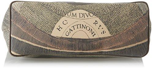 Gattinoni Gacpu0000122, Borsa a Spalla Donna, 14x36x34 cm (W x H x L) Marrone (Diana)