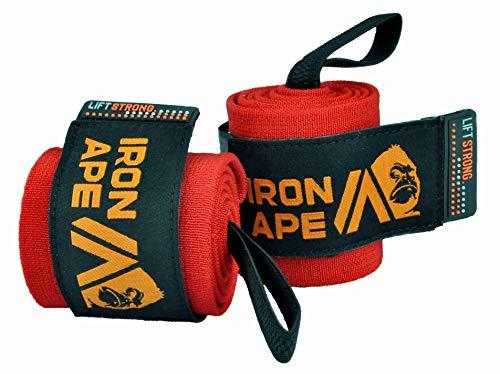 "IRON APE Extra Stiff 24"" Powerlifting Wrist Wraps for Weight"