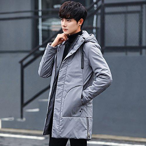 Spessore Outwear Casuale Incappucciato Grigio Imbottita Uomini Caldo Di Lsm cappotto Giacca Inverno Degli PwSUq8x