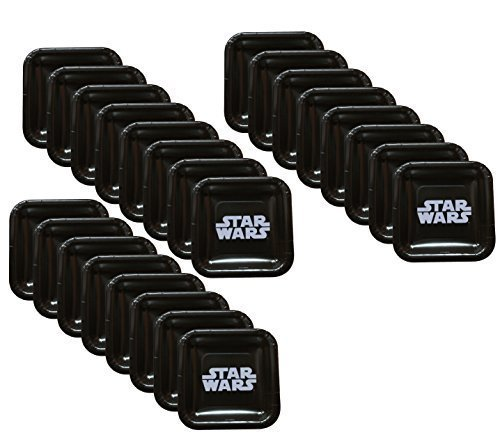 Star Wars Classic Logo Dessert Square Plates (24 Pieces) by Unknown -
