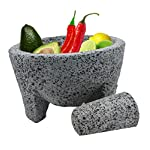 """TLP Molcajete authentic Handmade Mexican Mortar and Pestle 8.5"""" 8 It is a handmade product, made from lava rock. The product by nature will be porous. We have listed a preparation guide on the listed item. Those steps wil"""