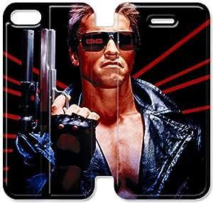 Schwarzenegger iPhone 4 4S Y7S54M5 del caso del tirón del cuero funda L0G17G5 funda personalizada de casos durable de cuero del teléfono