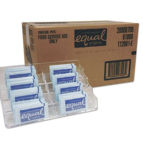 Equal 827553 Zero Calorie Sweetener, 0.035 oz Packet, 2000/Carton