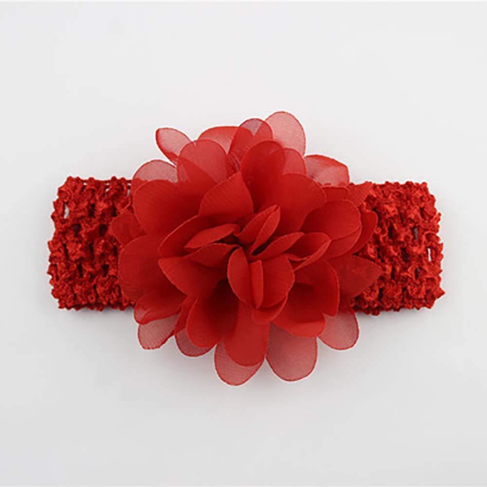 Baby Girls' Headbands Chiffon Flower Hair Accessories Lace Band Newborn Headwear Mioloe