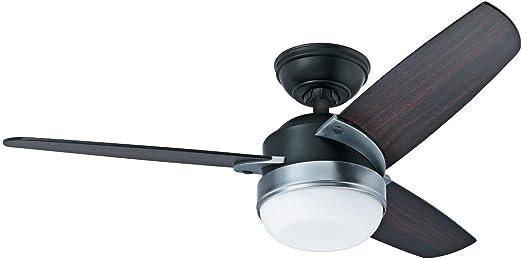 CASA BRUNO Nova ventilador de techo Ø 107 cm, con luz, negro ...