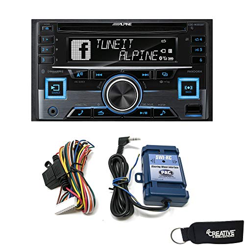 DIN Bluetooth CD Receiver with a PAC-Audio SWI-RC Steering Wheel Control Interface ()