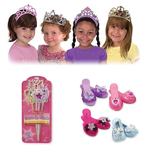 Melissa & Doug Dress-Up Tiaras, Wands, and Shoes (Pirate Costume Melissa And Doug)