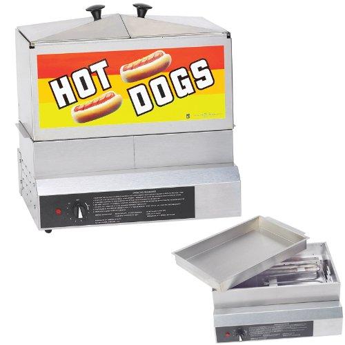 Gold Medal® 8007DE Hot Dog Steamer