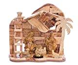 My Caring Cross Olive Wood Nativity Sets - Handcrafted and Elegant, Intricately Designed and Detailed (Large)